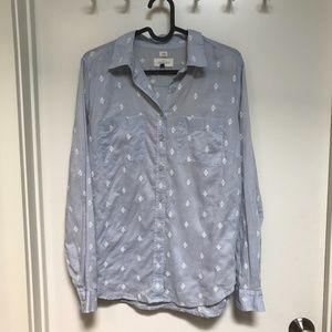 LOFT The Softened Shirt Light Blue Size M